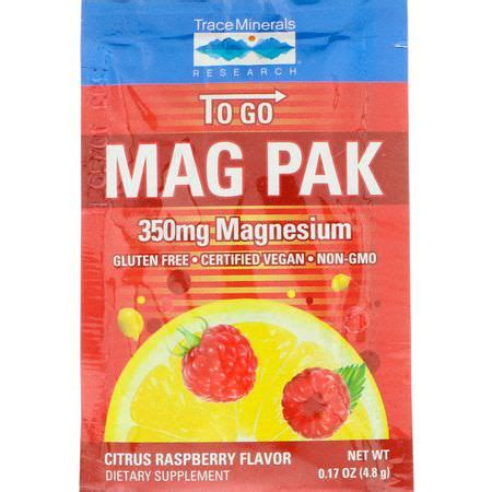 Trace Minerals Research, Mag Pak To Go, Magnesium Powder
