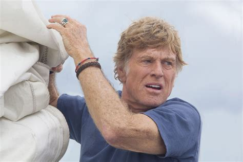 Robert Redford as the old (diehard) man and the sea in All
